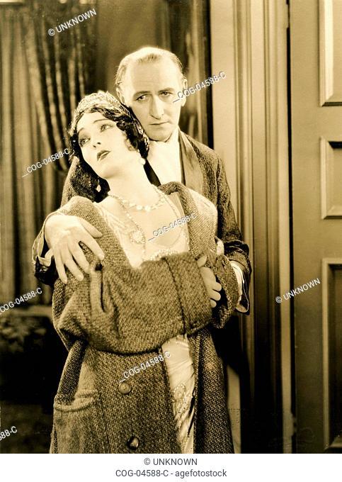 American actors Pauline Starke and Antonio Moreno in the film Love's blindness