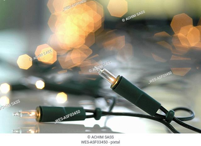 Fairy lights, close-up