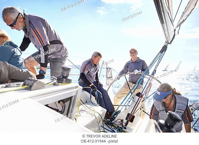 Retired friends sailing