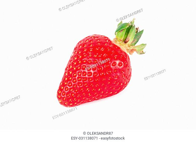 ripe strawberries on a white background. Fresh strawberries