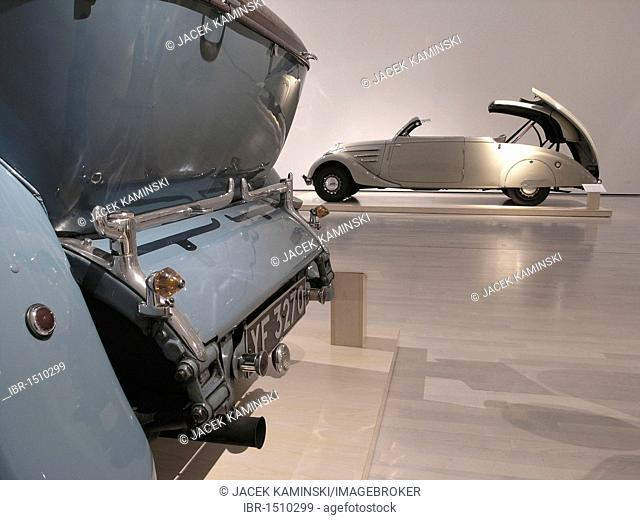 Peugeot 402 Eclipse, Mitomacchina exhibition, Museum of Modern Art, MART, Rovereto, Italy, Europe