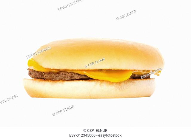 Cheeseburger isolated on the white background