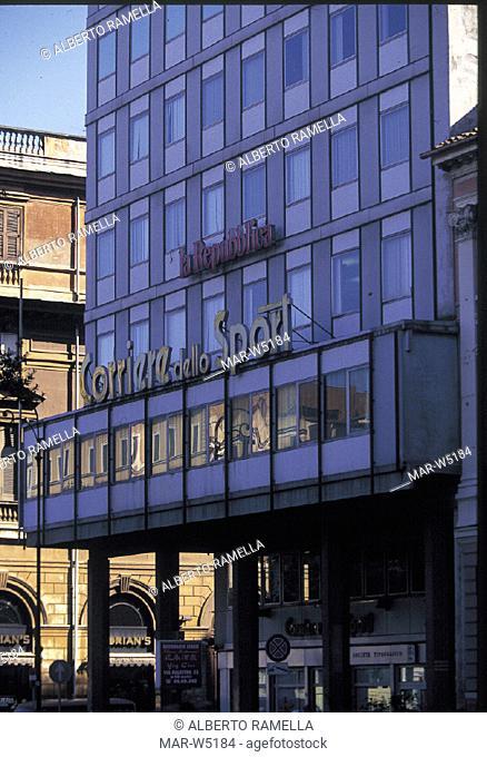 turin, headquarters of the newspapers la repubblica e corriere della sera