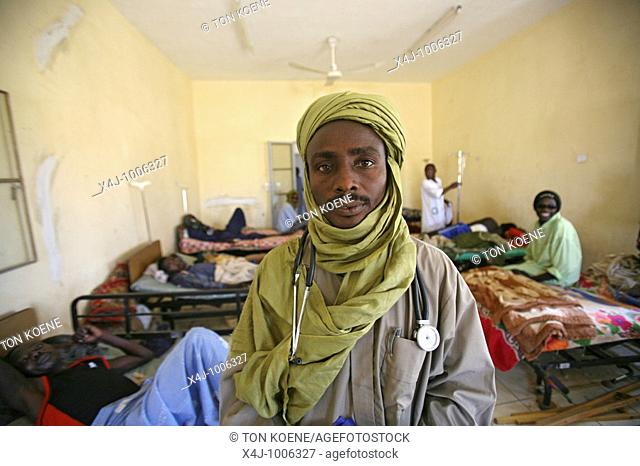 hospital in bahai city, chad  humanitarian aid is provided to 30 000 sudanese refugees who have fled from darfur since the war broke out in 2003  they have...