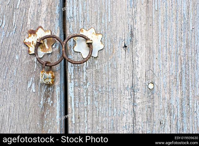 Old chinese door with doorknocker