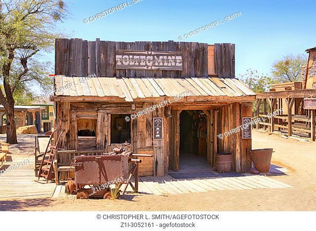 The Toltec Mine at the Old Tucson Film Studios amusement park in Arizona