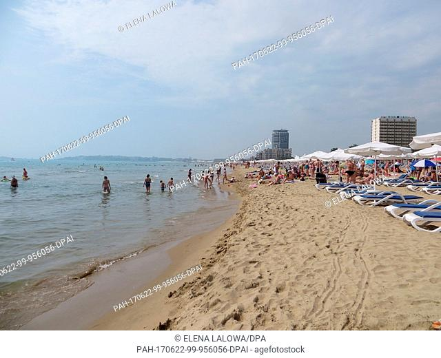 View of the beach in Sunny Beach, Bulgaria, 22 June 2017. Great beeches, fully booked hotels, long parties: Bulgaria's party tourism is booming