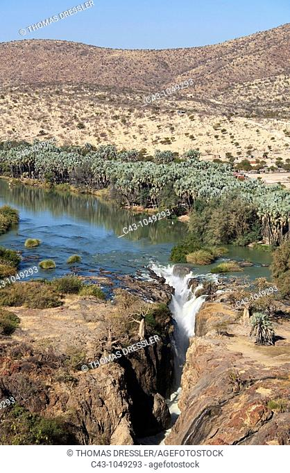 Namibia - At the beautiful Epupa Falls the Kunene River border river between Namibia and Angola drops in a series of cascades into a 60m deep gorge  The...
