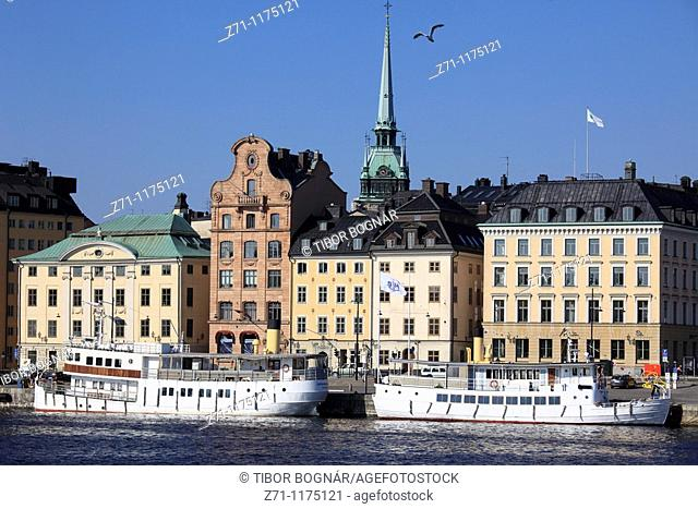 Sweden, Stockholm, Gamla Stan, Old Town, general view