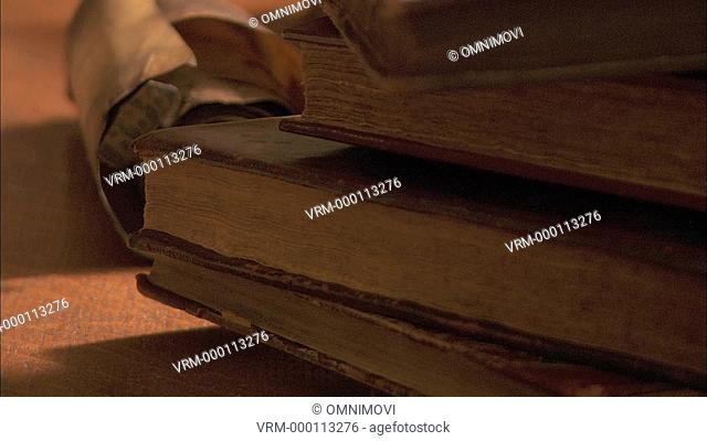 CU TU Old books and scroll / Yorkshire Archaeological Society, Leeds, UK