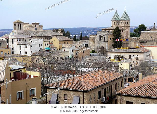 Old town view, Puerta de Bisagra, Toledo, World Heritage Site by UNESCO,Castilla La Mancha, Spain, Europe