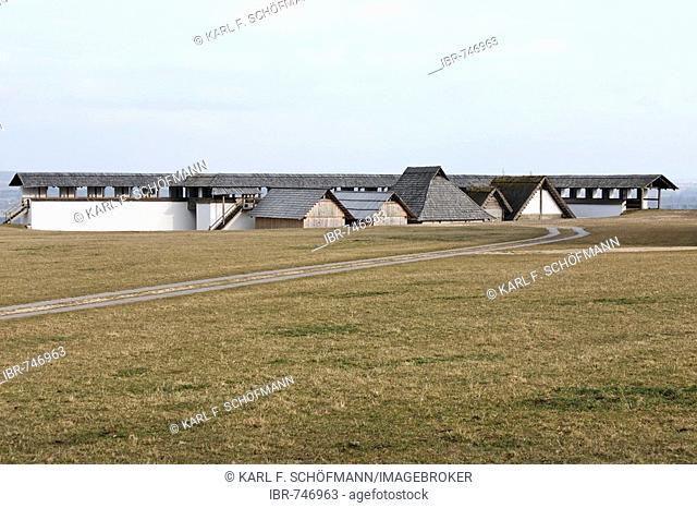 Heuneburg Open-air Museum, reconstruction of a celtic settlement, Herbertingen-Hundersingen, Riedlingen, Upper Swabia, Baden-Wuerttemberg, Germany, Europe