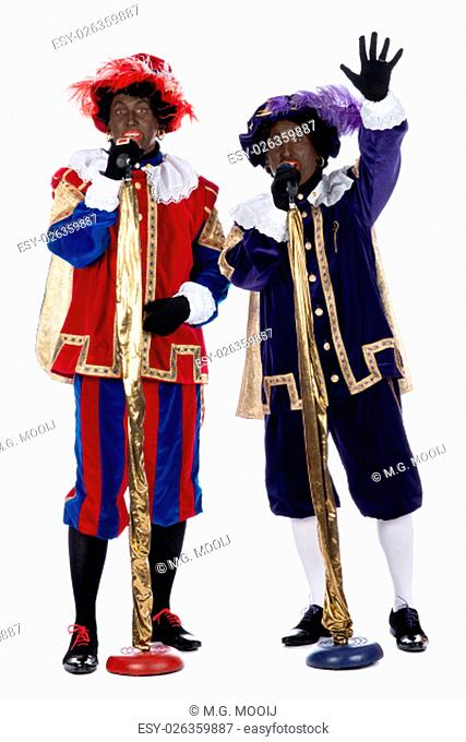 """Zwarte Piet is a character, part of a Dutch tradition called """"""""Sinterklaas"""""""", which is celebrated at December the fifth"""