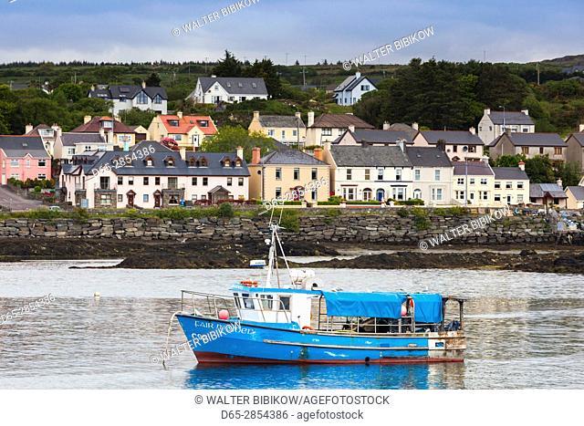 Ireland, County Cork, Beara Peninsula, Ring of Beara, Castletownbere, harbor view