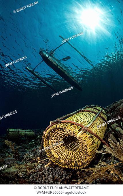 Fish Trap on Coral Reef, Pantar, Alor Archipelago, Lesser Sunda Islands, Indonesia