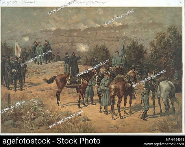 Battle of Chattanooga. L. Prang & Co. (Publisher) Thulstrup, Thure de (1848-1930) (Artist). Publisher's proofs of the publications of L. Prang & Co