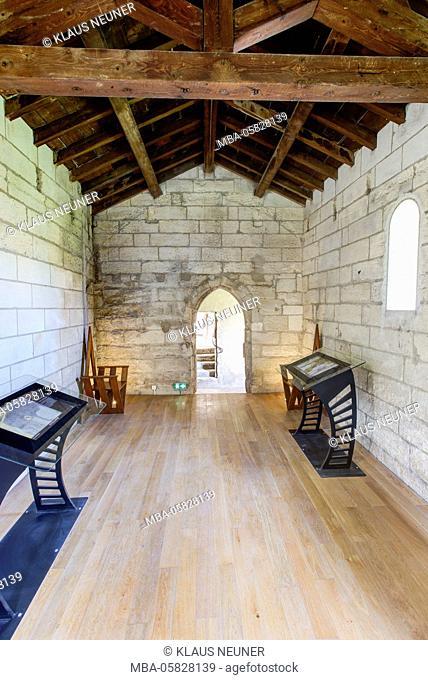 chartreuse Val de Bénédiction, dead person's chapel, inside, Villeneuve lès Avignon, Département Gard, region of Languedoc-Roussillon, France