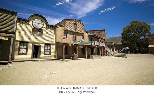 Fort Bravo, western town, former film set, now a tourist attraction, Tabernas, Andalusia, Spain, Europe