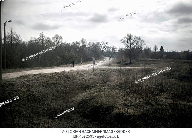 View of a contaminated area from a train that takes the workers of Slavutych to Chernobyl through a stretch of Belarussian territory