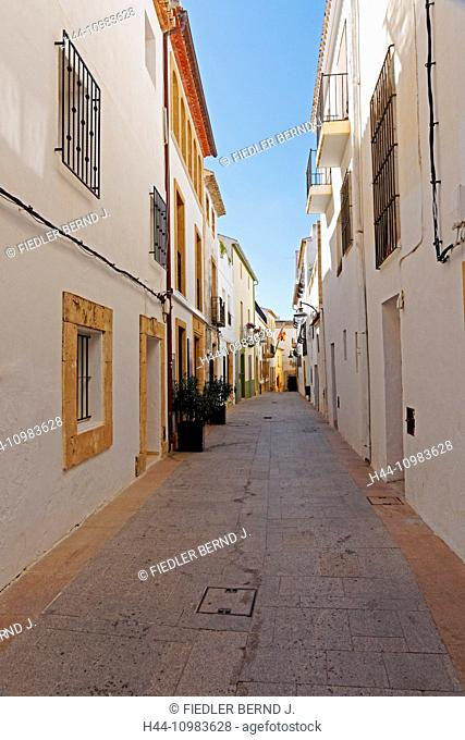lane in Xabia, Alicante