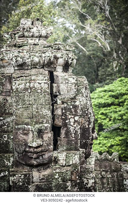 Stone faces of Angkor Thom (Siem Reap Province, Cambodia)
