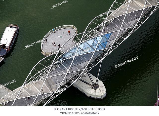 The Helix Bridge, Marina Bay, Singapore, South East Asia