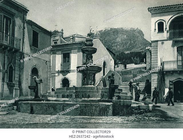 Public fountain, Taormina, Sicily, Italy, 1927. Artist: Eugen Poppel