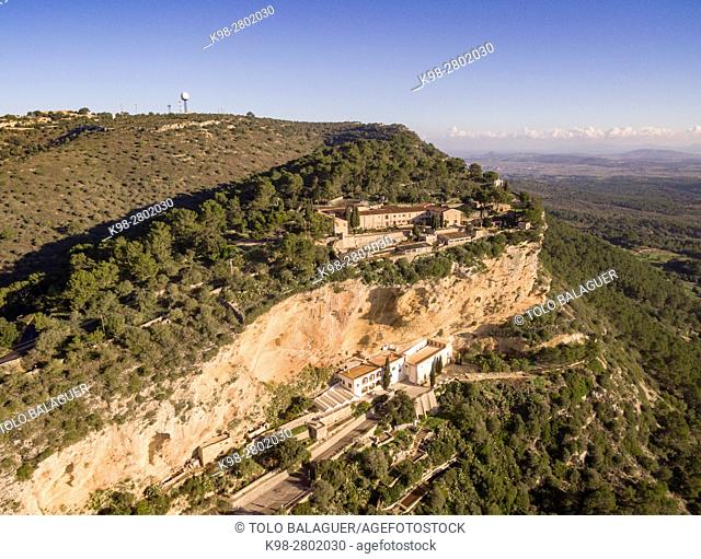 Sanctuaries of Gracia and Sant Honorat, Puig de Randa, Algaida, Mallorca, balearic islands, spain, europe