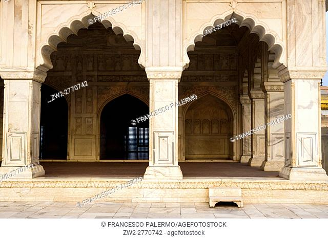Front of Diwan-e-Khas located in the Agra fort. Agra, Uttar Pradesh. India