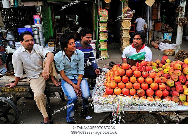At the market in Pahar Ganj, New Delhi