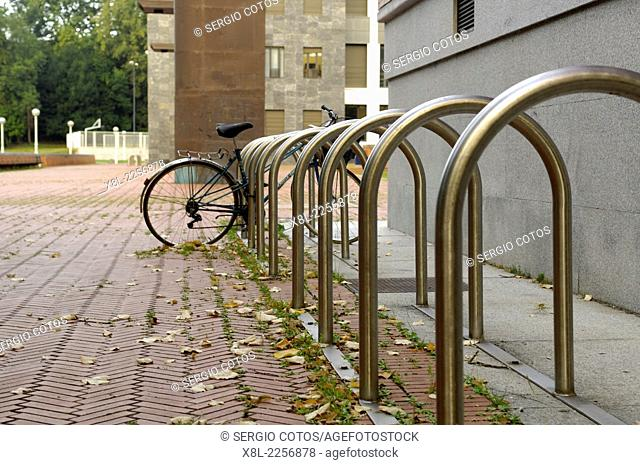 Bike parking, Donostia, Spain