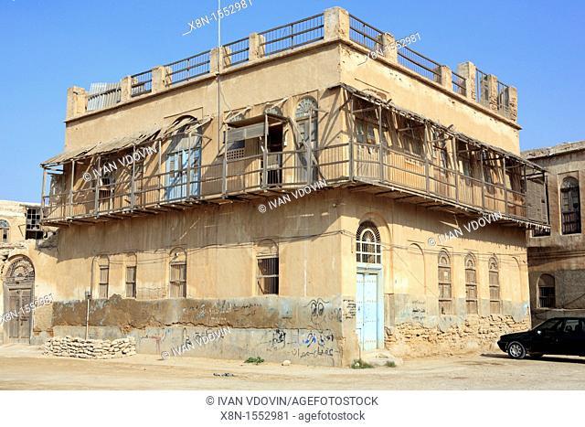 Traditional Persian Gulf bandari houses 19-20th century, Bushehr, province Bushehr, Iran