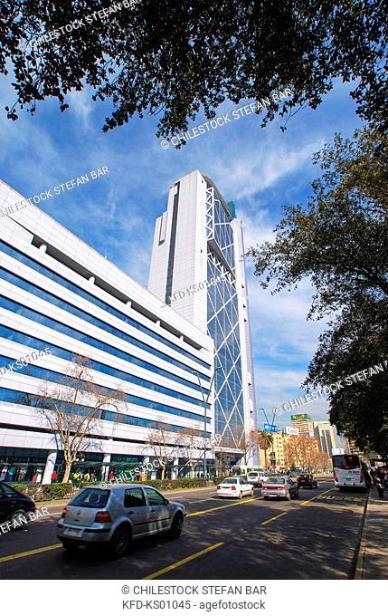 Chile, Santiago, Telefonica Building, Baquedano Square, Providencia