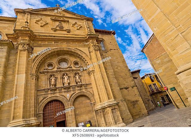 Main Facade, Cathedral of Santo Domingo de la Calzada, Renaissance Style, Historic-Artistic Monument, Plaza del Santo, Santo Domingo de la Calzada