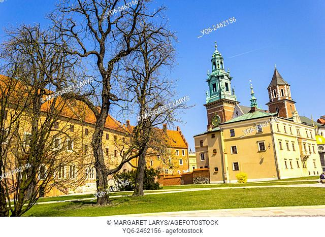 Royal Wawel Castle in Krakow, Poland, Europe