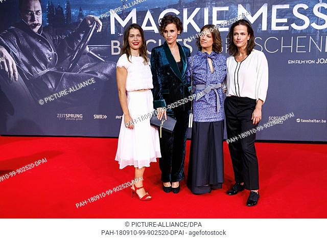 10 September 2018, Berlin: 10.09.2018, Berlin: Meike Droste (l-r), Peri Baumeister, Britta Hammelstein and Claudia Michelsen on the red carpet for the premiere...