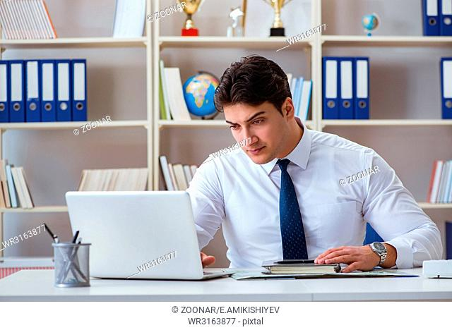Businessman agent working in the office