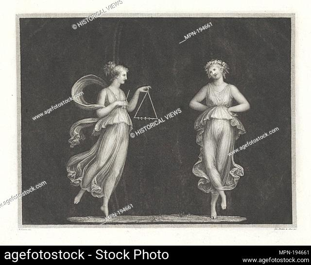 [Ancient dancing]. Canova, Antonio, 1757-1822 (Artist) Boni, Giovanni Martino dei, b. 1753 (Engraver). Prints depicting dance Subjects