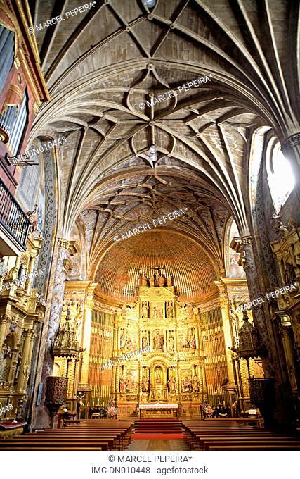 Spain, La Rioja, Elciego, inside the church