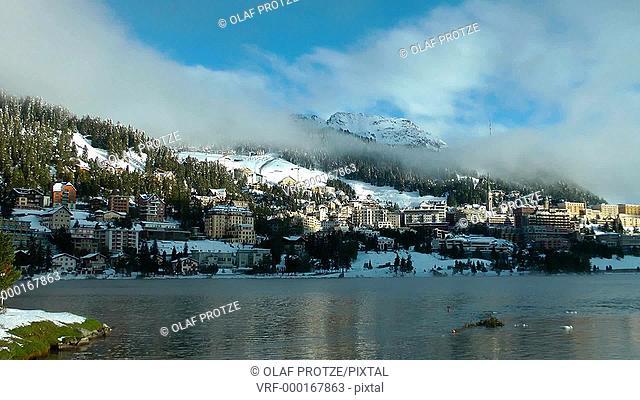 Lake St.Moritz, Engadin, Switzerland, Schweiz