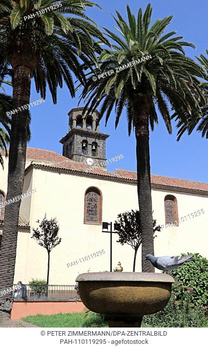 Bell tower of the Church of the Immaculate Conception in San Cristobal de la Laguna, the former capital of the Canary Island of Tenerife, taken on 20