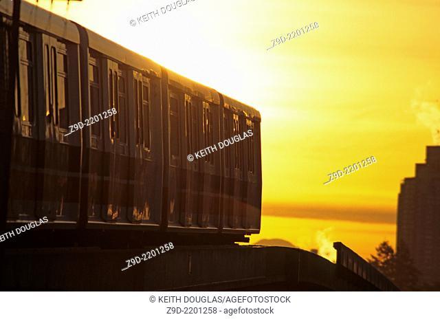 Skytrain light rapid transit line, Burnaby, British Columbia