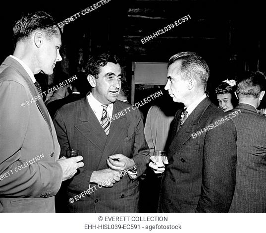 Major Arthur Peterson, physicist Edward Teller, and Los Alamos Director, Norris Edwin Bradbury. Teller advocated development of the hydrogen