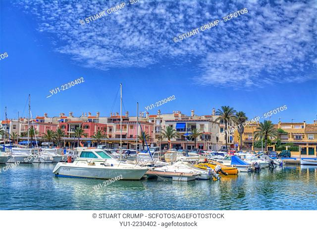 HDR of Harbour front at Cabo de Palos, Murcia, Costa Calida, Spain, Europe