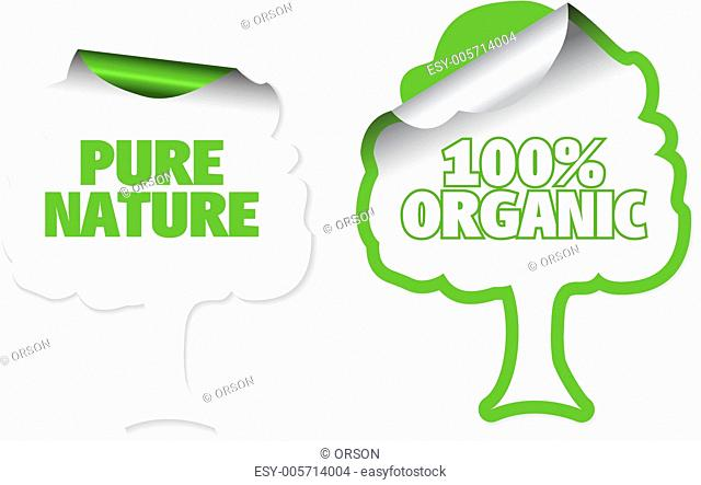 Set of tree labels for organic
