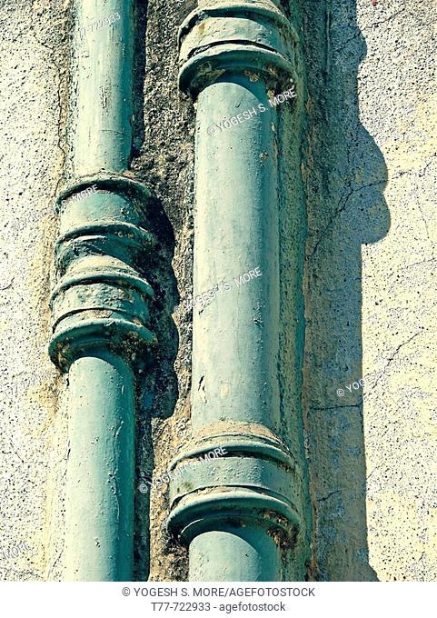 Close up of a drain pipe  Pune, Maharashtra, India