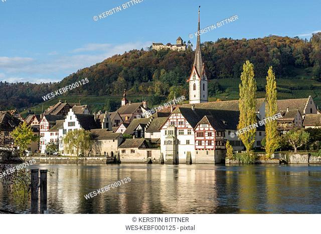 Switzerland, Stein am Rhein at River Rhine