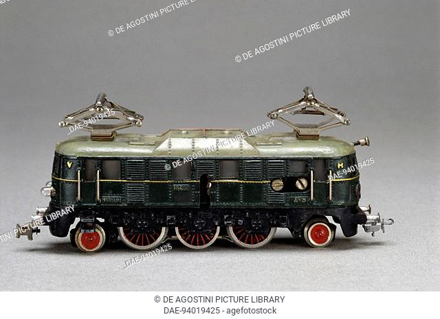 Electric locomotive, toy made by Marklin, 1937. Germany, 20th century.  Milan, Museo Del Giocattolo E Del Bambino (Toys Museum)