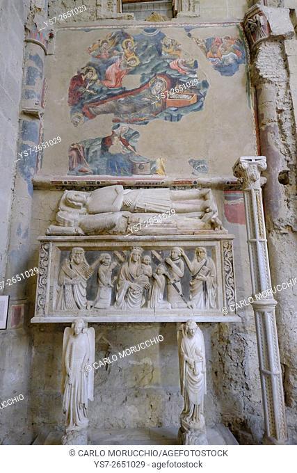 Right Transept at San Lorenzo Maggiore Church, Naples, Italy, Europe
