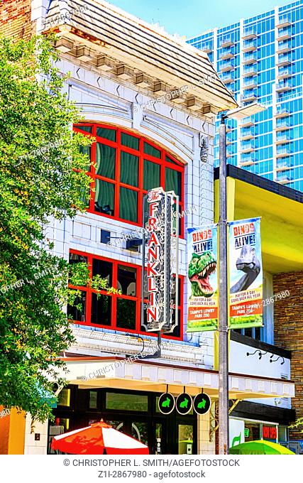 The old Franklin Theater in downtown Tampa FL